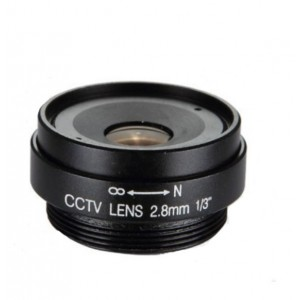 "RS02816F Lente iris fijo F1.8 1/3"" CS 2.8mm"